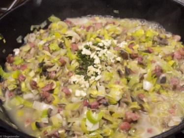 Romige pasta met prei, champignons en spekjes (31 van 40)