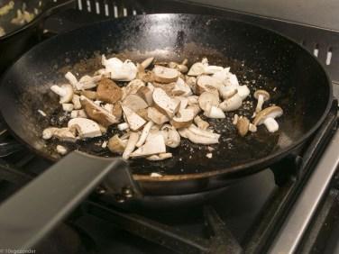 Romige pasta met prei, champignons en spekjes (35 van 40)