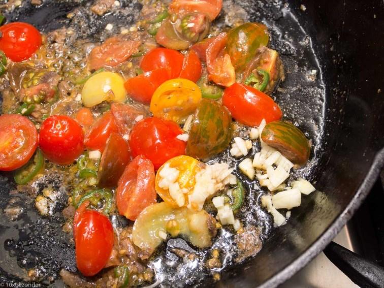 Pasta met boerenkool, peper en mascarpone-32