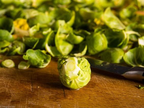 Spruiten uit de oven met parmezaanse kaas-7