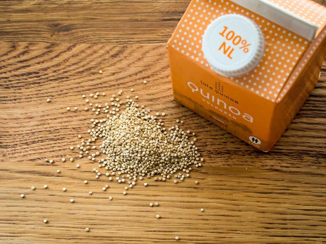 Quinoa met roerbakgroenten en kipspiesjes-5