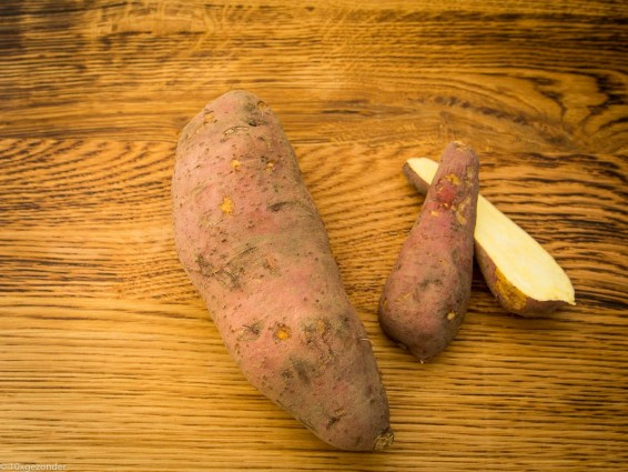 Zoete aardappel friet uit de oven-1