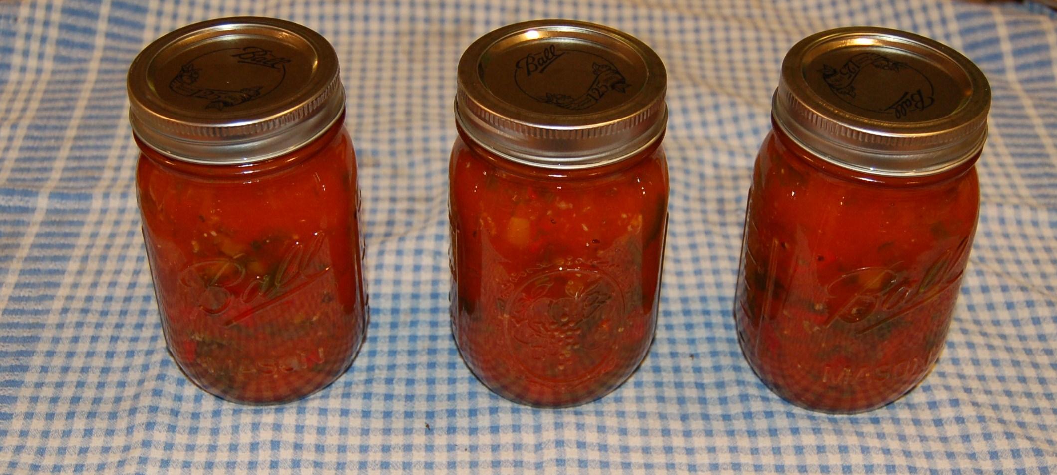 Finished tomato sauce