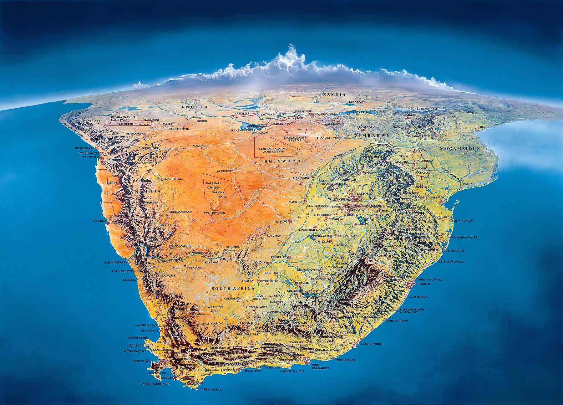 All About The Geography Of South Africa Facts Figures