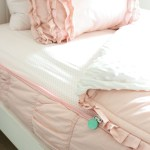 Girls Shared Bedroom Why We Love Our Blush Pink Ruffle Bedding From Beddy S