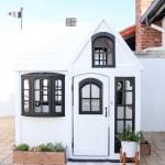 White Modern Farmhouse Cottage Playhouse Hack