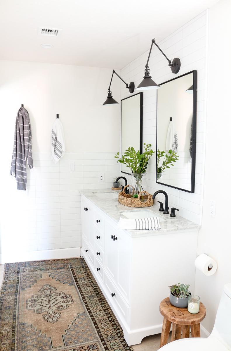 Modern Farmhouse Master Bathroom Renovation with Delta ... on Modern Farmhouse Bathroom  id=50025