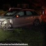 De gecrashte Audi A4