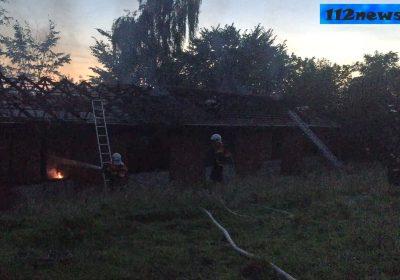 Mulig påsat brand i forladt bygning i Slagelse.