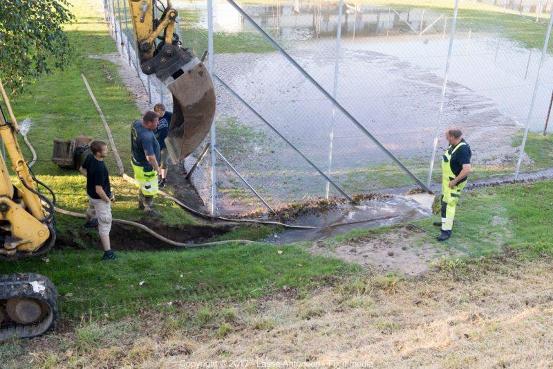 Stort vandledningsbrud i Korsør.