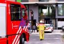 Brandweer rukt uit naar flat Gentiaanstraat