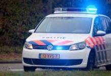 Politieauto met zwaailichten