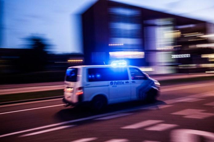 Belgische politiebus met spoed