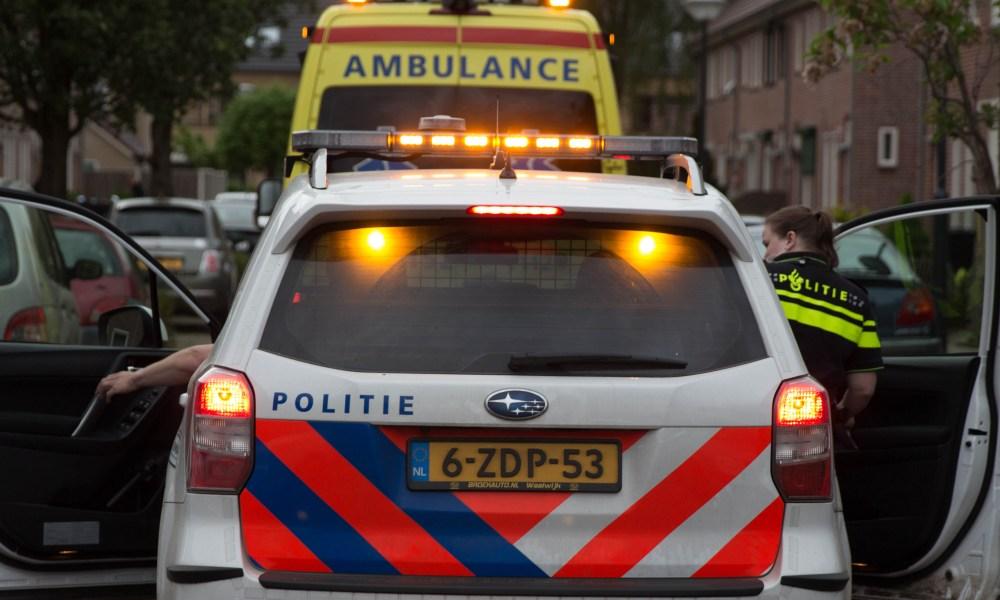 Motorrijder gewond na verkeersongeval.
