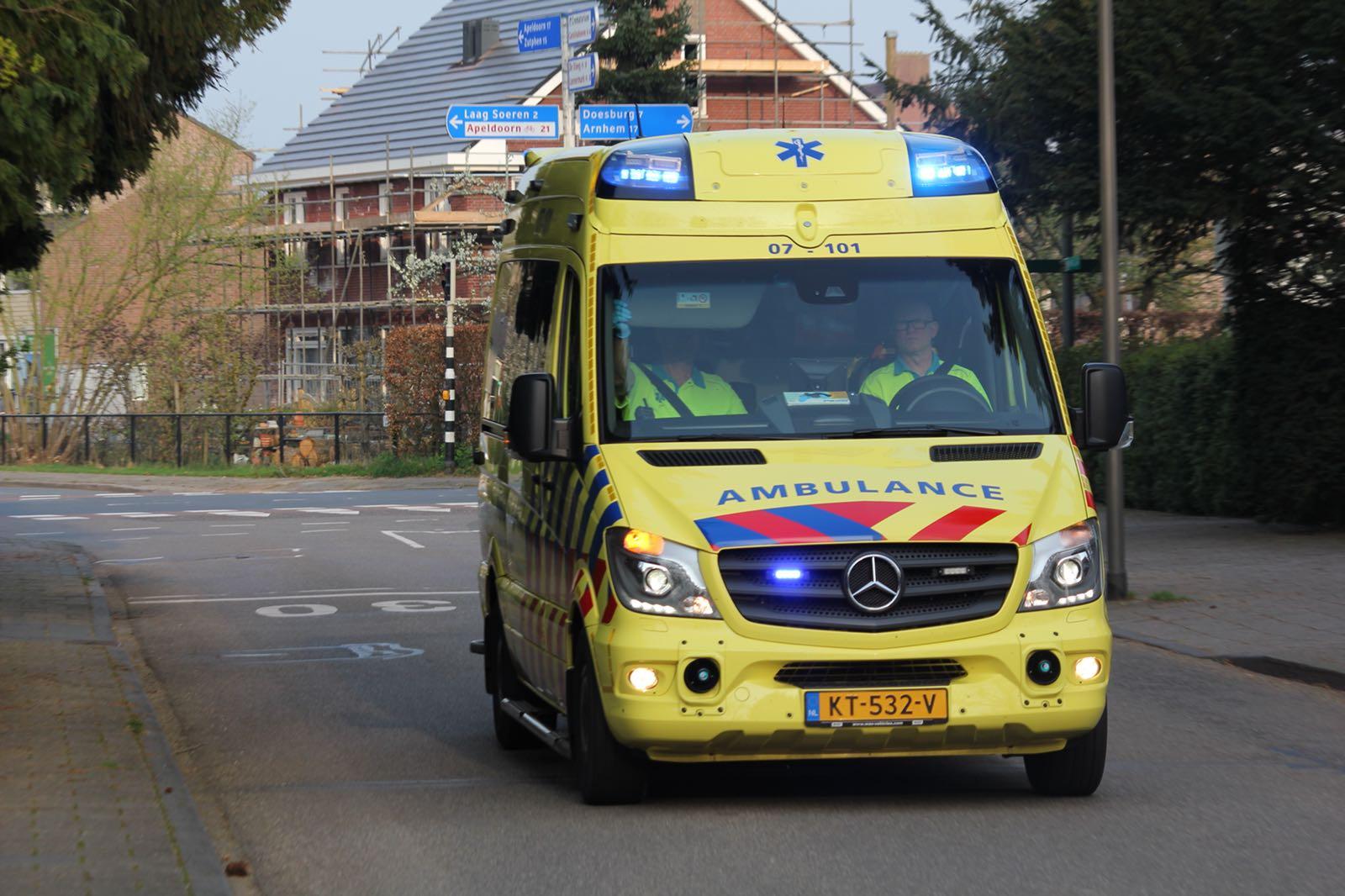 Motorrijder ernstig gewond bij ongeval.
