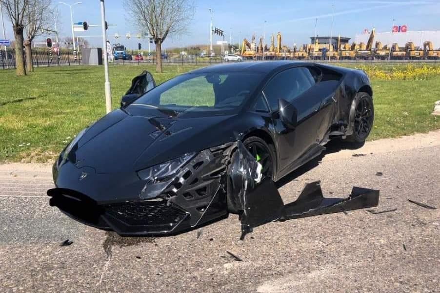 Ongeval met Lamborghini.