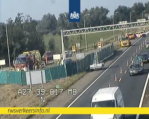 Dode na ernstig ongeval op de A27.