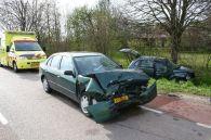 Veel schade aan de voertuigen