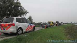 Hulpdiensten ter plaatse bij het ongeluk