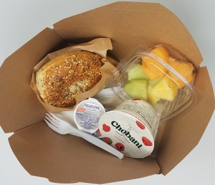 New items at 1132 Cafe: A Breakfast Box with Bagel ++