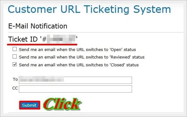 マカフィーのサイト(ウェブ)アドバイザーに対象サイトの調査を申請する