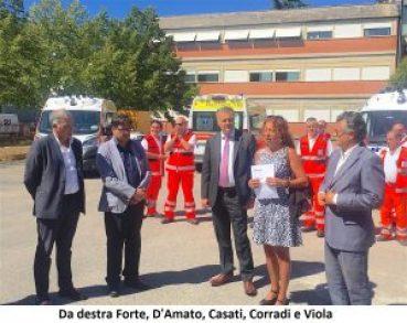 Da destra Forte, D'Amato, Casati, Corradi e Viola