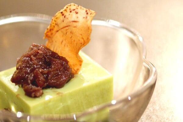 Complimentary Green Tea Dessert