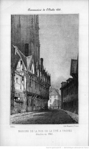 Annuaire de l'Aube 1855, Lithographie p.79, photo Société académique de l'Aube
