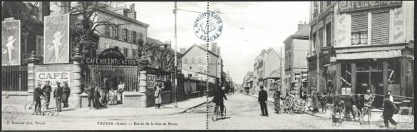 Carte postale, Troyes - Entrée de la Rue de Preize, CPLOCAL01931, Médiathèque du Grand Troyes, photo P. Jacquinot, X. Sabot
