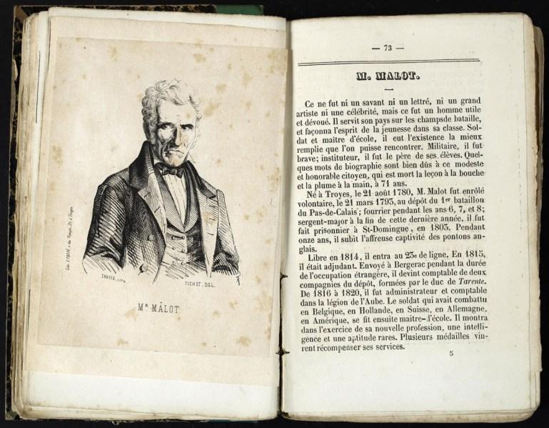 Almanach de Troyes 1852 : 4ème année, pages 72-73. Cab. loc. 12° 1068. Médiathèque du Grand Troyes. Photo: P. Jacquinot