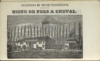 Usine de fers à cheval. Almanach de Troyes 1851. Médiathèque du Grand Troyes. Photo: E. Bord