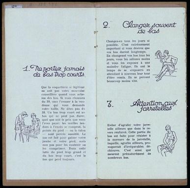 Les 7 secrets de Martine pour faire durer les bas, établissements Doué et Lamotte, Troyes, vers 1930, pp. 3-4. Médiathèque du Grand Troyes. Photo: Eric Bord