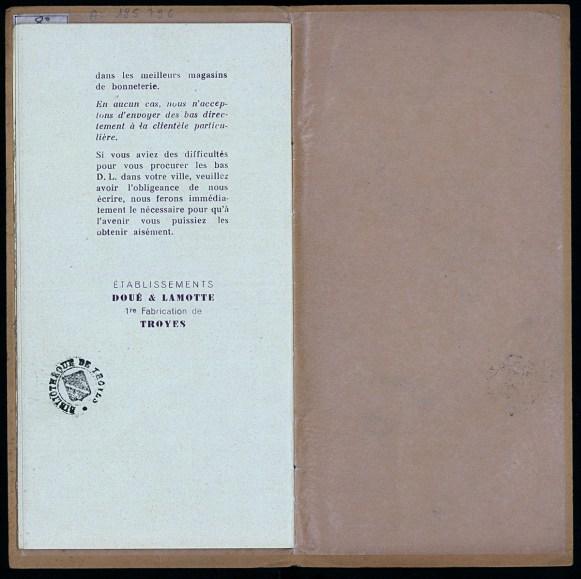 Les 7 secrets de Martine pour faire durer les bas, établissements Doué et Lamotte, Troyes, vers 1930, p. 11. Médiathèque du Grand Troyes. Photo: Eric Bord