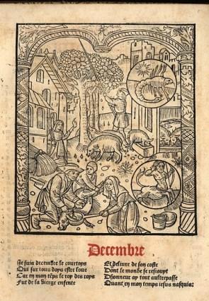Le grant kalendrier et compost des bergiers, impr. Nicolas le Rouge, Troyes, 1529. Photo Médiathèque du Grand Troyes
