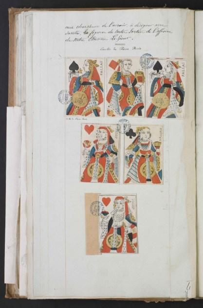 Quelques cartes que Socard attribue au cartier Pierre Pavie. [Ms 2701] Photo Médiathèque Troyes Champagne Métropole
