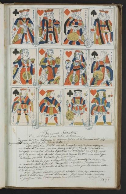 Quelques cartes attribuées par Socard au cartier Jacques Sainton. [Ms 2701] Photo Médiathèque Troyes Champagne Métropole