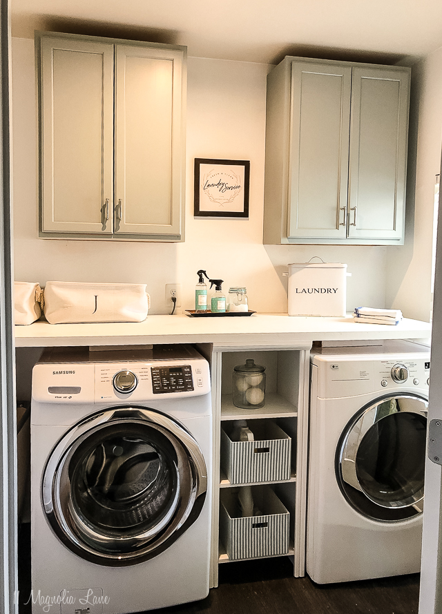 Adding Inexpensive Painted Cabinets in Our Laundry Room ... on Laundry Room Cabinets  id=54149