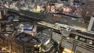 スカイビルから見た横浜駅