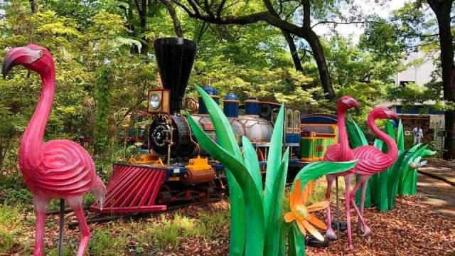 としまえんにあるアトラクション「模型列車」の写真