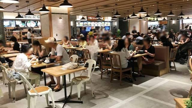 川崎ルフロンにできたフードコート「FOOD VILLAGE/フードビレッジ」の写真