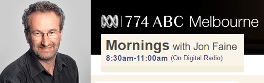 ABC Radio Melbourne Jon Faine Mornings