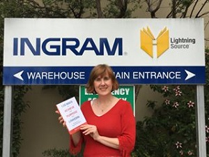 Sue Ellson with first copy of '120 Ways To Achieve Your Purpose With LinkedIn' 18/02/16