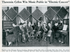 Theremin Orchestra, Carnegie Hall. C1930