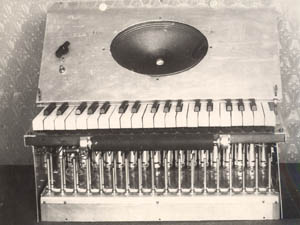 Early version of the Theremin Harmonium. From the The Theremin Center for Electroacoustic Music , Moscow, Russia(1)