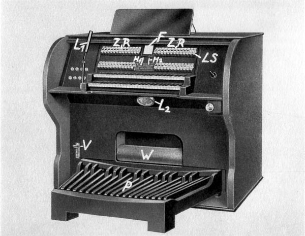 The Stelzhammer Magneton tone wheel organ, 1930.