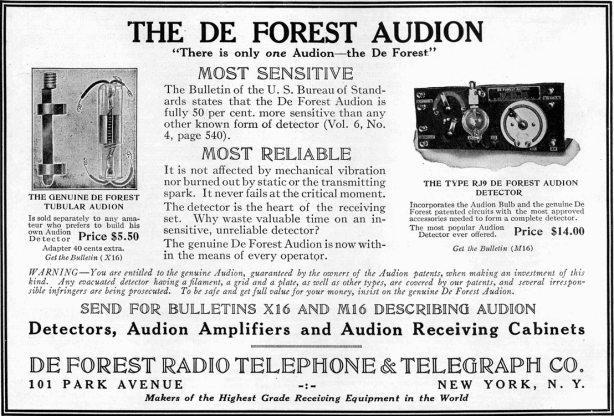 Advert for De Forest wireless equipment