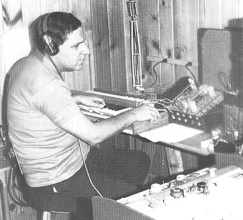 Herbert A. Deutsch working on the Development of the Moog Synthesiser c 1963
