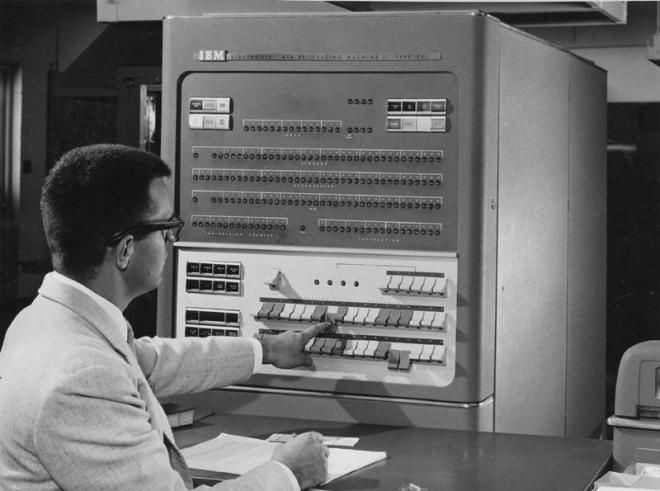 The IBM704b at Bell Labs used with the Graphics 1 system
