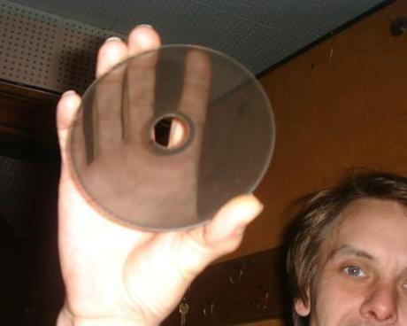 One of the 44 photo-optical glass disks of the ANS