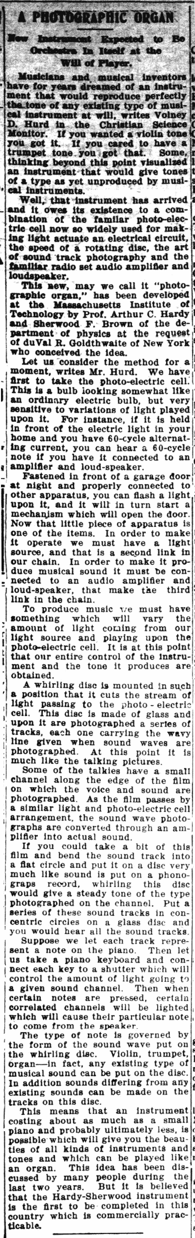 Photoelectric – 120 Years of Electronic Music